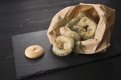 フィッシュ&チップス【県魚とゴーヤ、アイオリソースとスパイスソルト】
